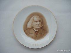 Herendi Liszt Ferenc falitányér