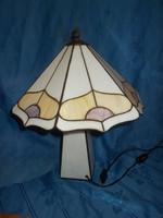 Szecessziós stílusú tiffany asztali  üveg lámpa