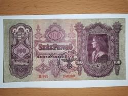 Szép állapotú 100 pengő, fantázia bélyegzéssel! 1932!