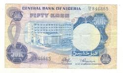 50 kobo 1973-78 Nigéria 1. signo