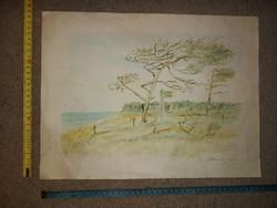 Ismeretlen szignós, valószínűleg lengyel akvarell festmény
