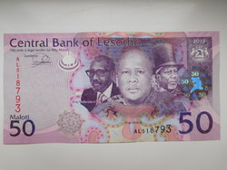 Lesotho 50 maloti 2013 UNC