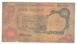1 naira 1973-78 Nigéria 2. signo