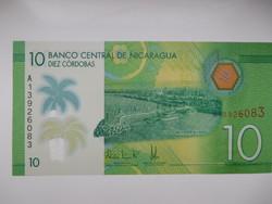 Nicaragua 10 cordobas 2015 UNC  Polymer