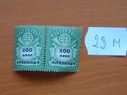 """200.000 200 EZER ADÓPENGŐ 1946 Milliárd felülnyomott """"ADÓPENGŐ"""" 1 PÁR 23M"""