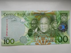 Lesotho 100 maloti 2013 UNC