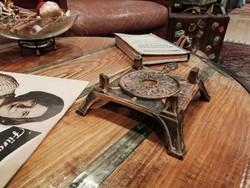 Spirituszégő,régi öntöttvas spirituszégő, loft dekor