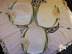 Eladó régi porcelán Wellco-design kálás lapos tányérok 6 db!
