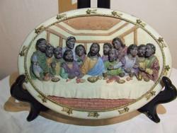 Az utolsó vacsora falidísz ,fali tányér