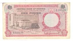 1 pound font 1967 Nigéria 1.