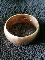 Antik 14 karátos arany karika gyűrű