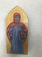 Kézzel festett ikon fa lapon.