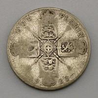Ritka 1 Florin-2 filléres érme 1923, ezüst érme, Egyesült Királyság érme