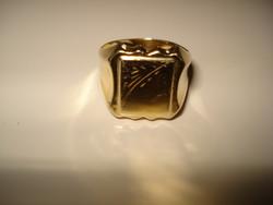 14K férfi pecsétgyűrű