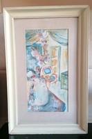 Akvarell ismeretlen festőtől 35x54 cm keretben
