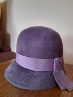 Retro régi elegáns lila női kalap