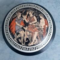 Görög kerámia bonbonier, cukortartó, doboz