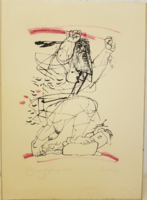 Kass János: Psalmus Hungaricus kép. Nagy haragomban. Gyűjtői darab.