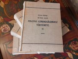 GRACZA GYÖRGY- AZ 1848-49-IKI MAGYAR SZABADSÁGHARCZ TÖRTÉNETE I-IV. 1894-ben kiadott ritka könyv