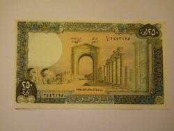 Unc 250 Livres Libanon  1988 !!