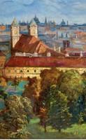 Károlyi Andor (1894-?):Kilátás a Rózsadombról  olaj,vászon
