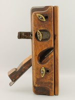 Ritka régi asztalos kézi gyalu, Asztalos régi eszköz , Carpenters Planer