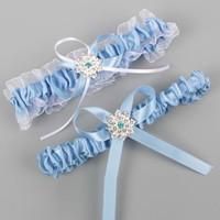 Esküvői, menyasszonyi harisnyakötő szett ES-HK24 K