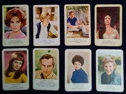 1971-72-es kártyanaptárak; színészek, 8db
