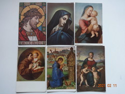 Szép, régi művészi képeslapok: 6 db egyben