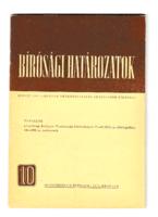 Bírósági határozatok 1973.  október - 21. ÉVFOLYAM, 10. SZÁM