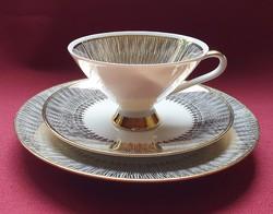Z & Co Tirschenreuth Bavaria német porcelán reggeliző szett 3 részes (csésze, csészealj, kistányér)