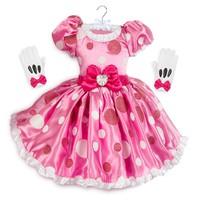 Újszerű 104-es Disney Store Minnie jelmez:ruha,kesztyű,fejdísz/Újszerű 104-es koszorúslány ruha