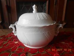 Hollóházi porcelán, Pannónia Bianco leveses tál
