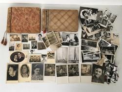 Régi fénykép gyűjtemény + 2 db fotóalbum