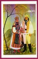 *E - 0037 - - - Irredenta (reprint) képeslap - Külhoni népviselet,  Torockói