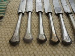 11 db antik  monogramos ezüst nyelű kés
