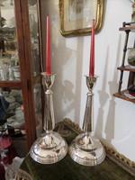 Hatalmas art deco ezüst gyertyatartó pár