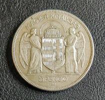5 Pengő 1930 Ezüst
