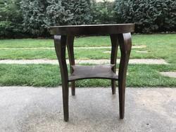 Antik Art deco dohányzó asztal, körasztal