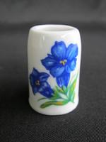 Bavaria porcelán kék virágos mini bögre