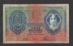 20 korona 1907. NAGYON SZÉP!!  RITKA!!