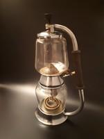 Art deco üveg lombik kávéfőző