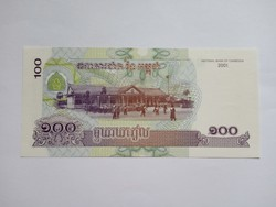 Unc 100 Riels Kambodzsa 2001  !! ( 2 )