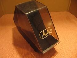 Melitta kávé papírtölcsér, papírszűrő, filter tartó műanyag doboz design:Mikael Björnstjerna