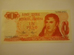 Unc 1 Peso Argentína 1973  !!