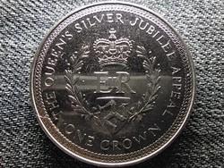 Man-sziget 25 éve uralkodik II. Erzsébet 1 Korona 1977 (id48074)