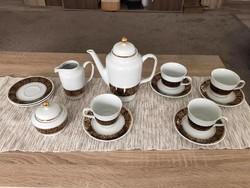 MZ Czechoslovakia teás/kávés készlet_kanna, tejkiöntő,cukortartó, 4 db csésze+alj_2 db alj