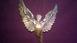 Ikarosz - ritka tömör bronz szobor , réz talapzaton