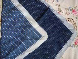 Valódi 100% selyem kendő négyzet alakú kék sötétkék világoskék