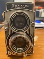 Flexaret antik fényképezőgép eredeti tokjában